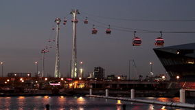 Thames cable car stock video