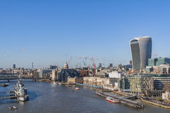 Thames and the City, London Royalty Free Stock Images