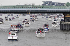 The Thames Diamond Jubilee Pageant Stock Image