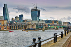 Thames embankment Royalty Free Stock Photo