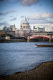 Thames embankment Royalty Free Stock Image