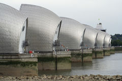 The Thames Flood Barrier London Royalty Free Stock Photo