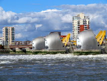 Thames flood barrier Stock Photo