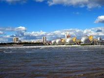 Thames flood barrier Stock Image