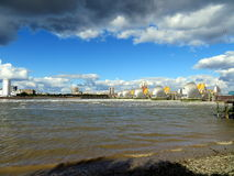 Thames flood barrier Royalty Free Stock Photography