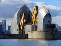 Thames flood barrier Stock Image