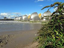 Thames flood barrier stock photography