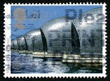 Thames Flood Barrier UK Postage Stamp Stock Images