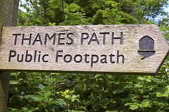 Thames Footpath Marker Royalty Free Stock Photos