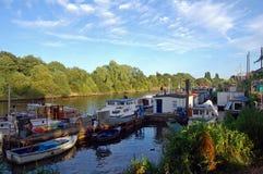 Thames houseboats Stock Image