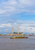 Thames industri Arkivbild