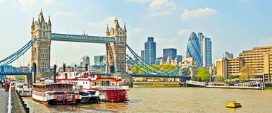 Thames in london Royalty Free Stock Photos
