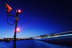 Thames in London at night Stock Image