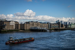 The thames. In London, in UK Royalty Free Stock Photo