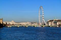 Thames & Londyński oko Obraz Stock
