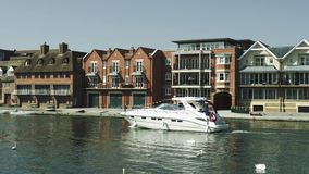 Thames luxury river houses yacht with swans