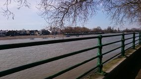Thames. The Thames near fulham Craven cottage Stock Photography