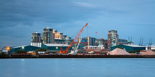 Thames in Newham, London. Stock Photography
