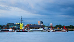 Thames in Newham, London. Stock Images