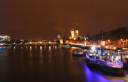 Thames at Night Stock Photo