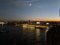 Thames by night stock photos