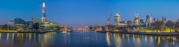 Thames panorama Obrazy Stock