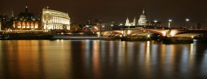 Thames panorama Royalty Free Stock Images