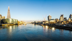 Thames Panorama at sunrise Stock Photo