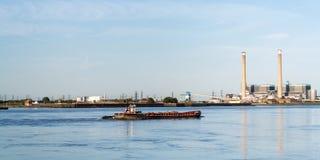 Thames pråm Royaltyfria Foton