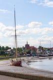 Thames pråm Royaltyfria Bilder