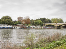 The Thames at Richmond on a grey day. UK. Stock Photos