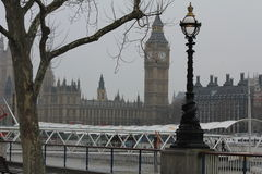 Thames River and Big Ben in London, the United Kingdom Stock Images