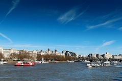 Thames river at blackfriars bridge Stock Image