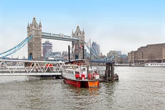 Thames river boat Stock Photo