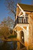 Thames river boathouse Royalty Free Stock Photos