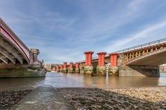 Thames river bridge Royalty Free Stock Images