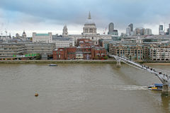 Thames river cityscape Stock Photo