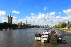 Thames River cruises pier London Royalty Free Stock Photos