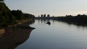 The Thames River at Dusk, London, UK. stock footage