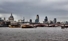 Thames river in London Stock Photo