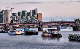Thames river in London Royalty Free Stock Images