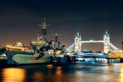 Thames River London Fotografering för Bildbyråer