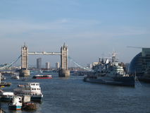 Thames River, London Bridge Stock Image