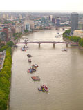 Thames River and London City Royalty Free Stock Images