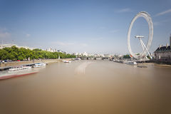 Thames River And London Eye, editorial Royalty Free Stock Image