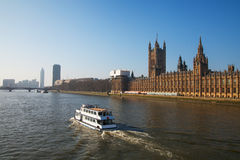 Thames river, London. Royalty Free Stock Images