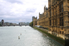Thames River and London Parliament.  royalty free stock photos