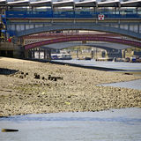 Thames river at low tide Stock Photography