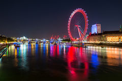 Thames River at night Stock Photography