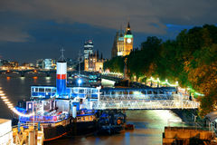 Thames River night Royalty Free Stock Image